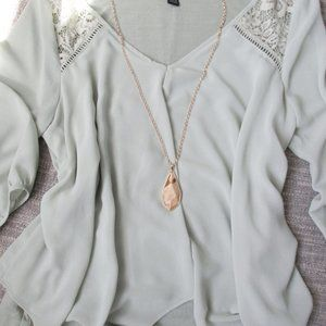 Genuine Stone Pendant Necklace